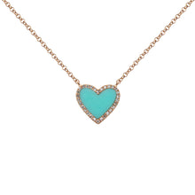 14K GOLD DIAMOND TURQUOISE SMALL HAILEY NECKLACE