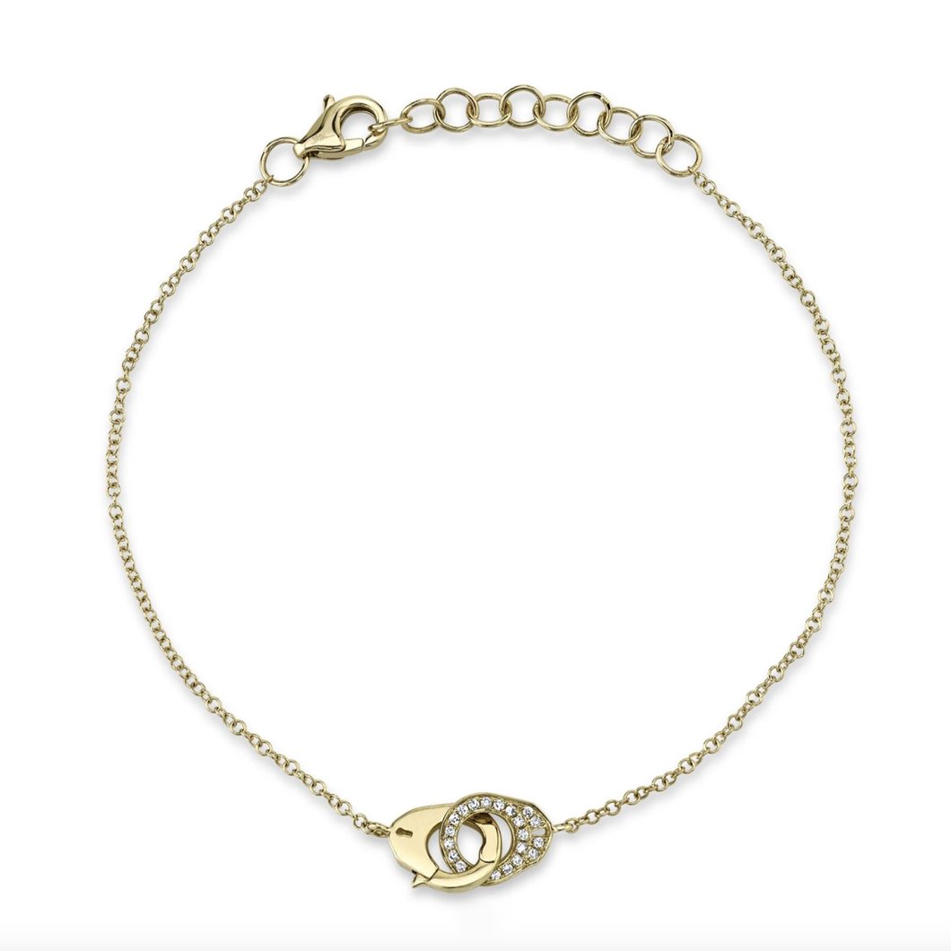 14K GOLD DIAMOND CAMERON BRACELET