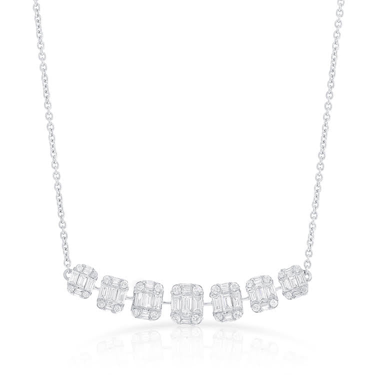 14K GOLD DIAMOND SOPHIE BAGUETTE NECKLACE