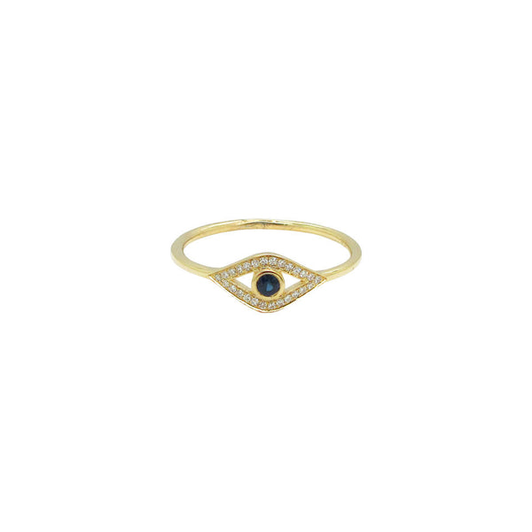 14K GOLD DIAMOND CORA EYE RING