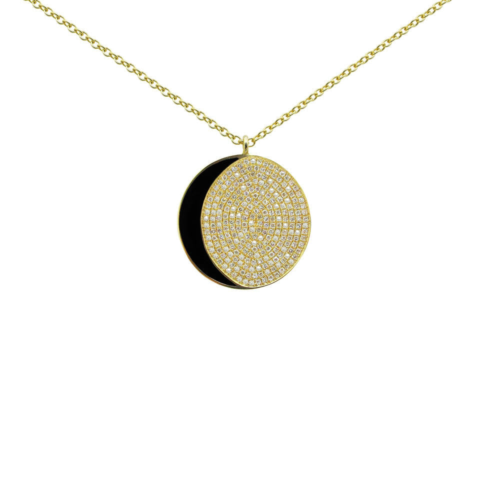 14K GOLD DIAMOND HARLEY NECKLACE
