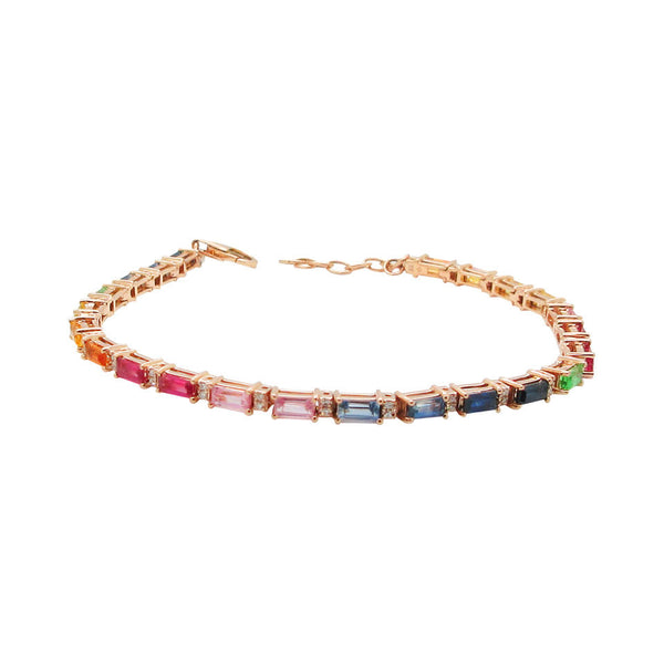 14K GOLD DIAMOND GABRIELLA RAINBOW BRACELET