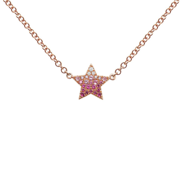 14K GOLD DIAMOND LACEY STAR NECKLACE