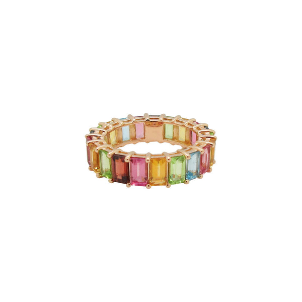 14K GOLD DIAMOND JANE RAINBOW RING
