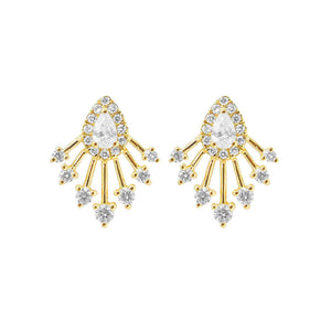 14K GOLD DIAMOND ALISHA STUDS