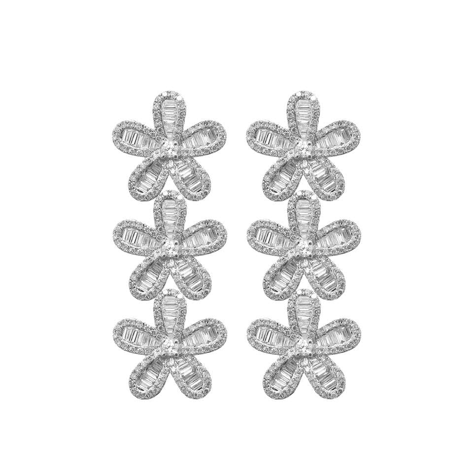 18K GOLD DIAMOND LORELEI FLOWER EARRINGS