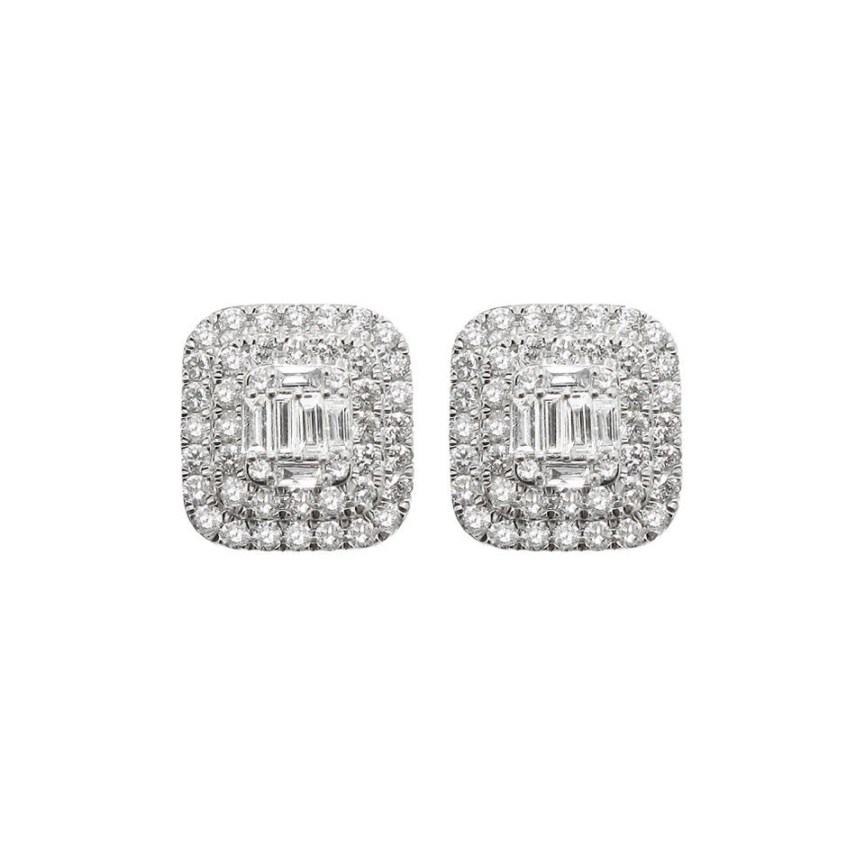 14K GOLD DIAMOND ELLA STUDS