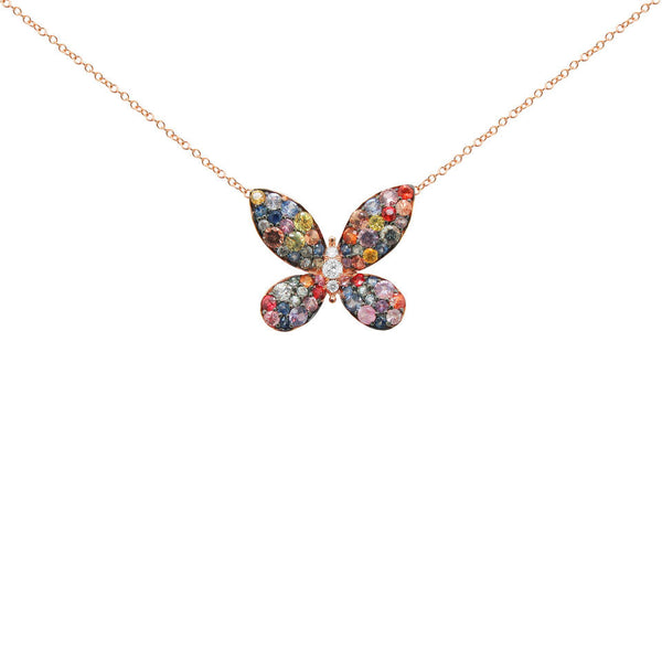 14K GOLD DIAMOND DANA BUTTERFLY NECKLACE