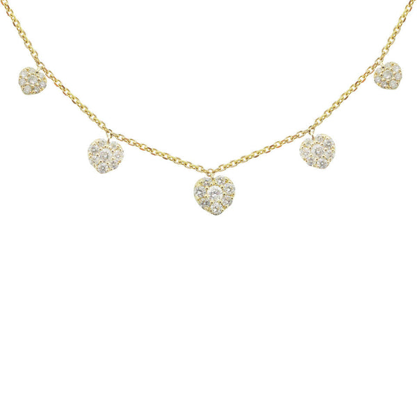 14K GOLD DIAMOND MADELYN HEART NECKLACE