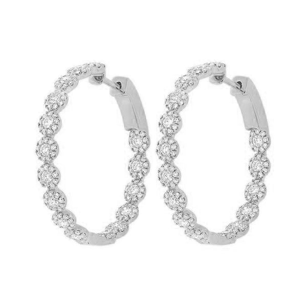 14K GOLD DIAMOND HELEN HOOPS