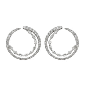14K GOLD DIAMOND JOANNA EARRINGS
