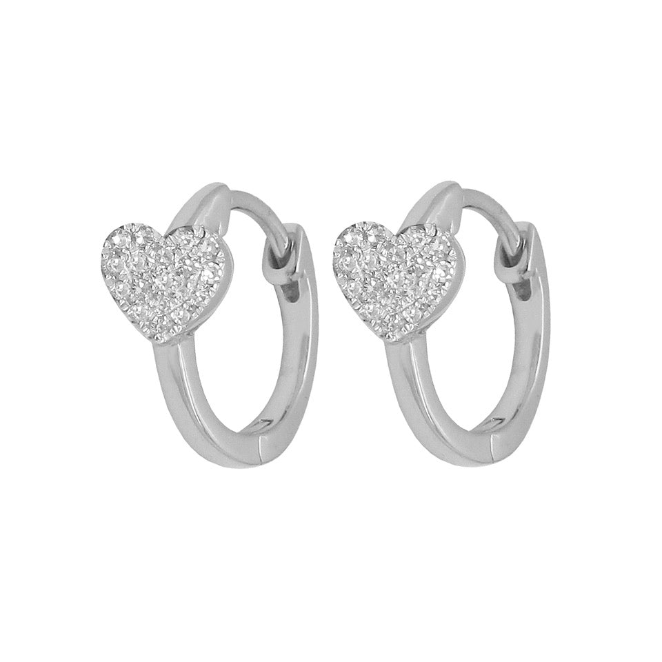 14K GOLD DIAMOND CARYN HEART HUGGIES