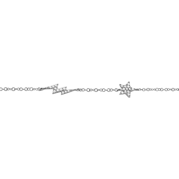 14K GOLD DIAMOND TINA BRACELET