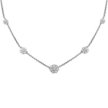 14K GOLD DIAMOND CHRISTIE FIVE FLOWER NECKLACE