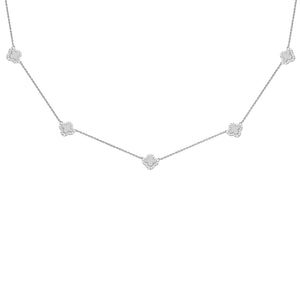 14K GOLD DIAMOND TORY NECKLACE