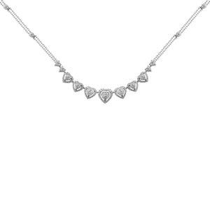 14K GOLD DIAMOND KEYANNA HEART NECKLACE