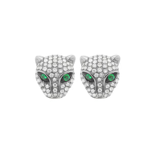 14K GOLD DIAMOND JAGUAR STUDS