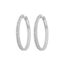 14K GOLD DIAMOND RAYNA HOOPS