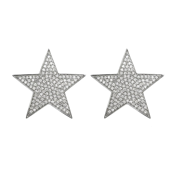 14K GOLD DIAMOND RENEE STAR STUDS