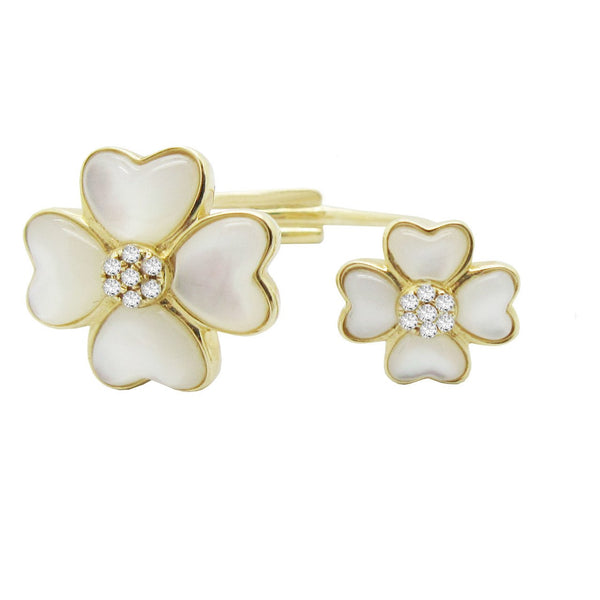 Double Clover Ring (White)