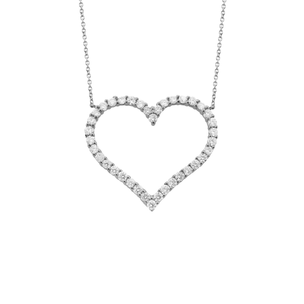 14K GOLD DIAMOND LUNA HEART NECKLACE