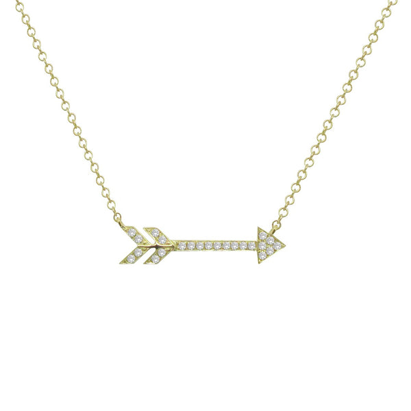 14K GOLD DIAMOND ELORAM NECKLACE (ALL COLORS)