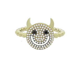 14K GOLD DIAMOND DEVIL RING (ALL COLORS)