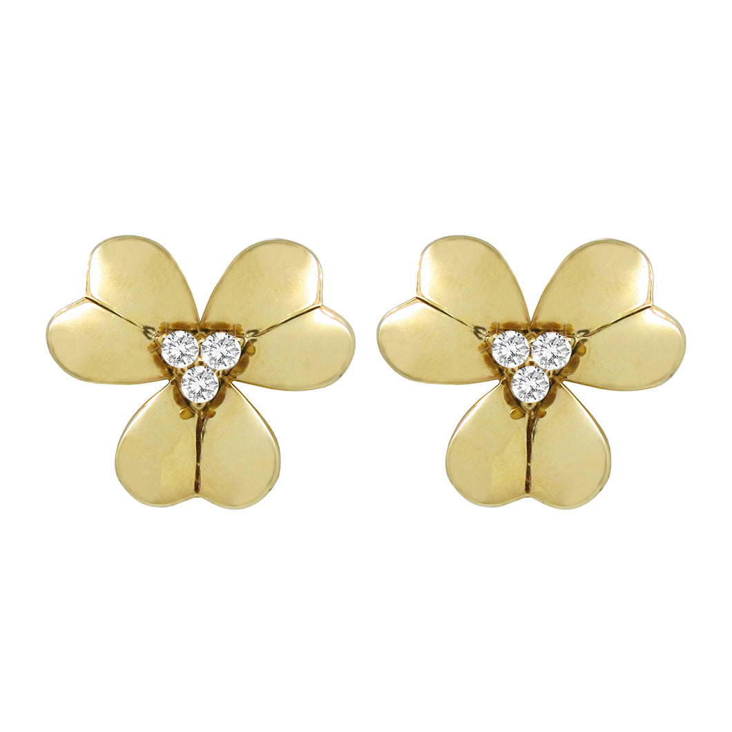 14K GOLD DIAMOND ISABELLA EARRINGS