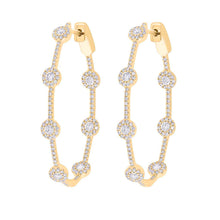 14K GOLD DIAMOND ELORA HOOPS