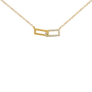 14K GOLD DIAMOND BETH LINK NECKLACE