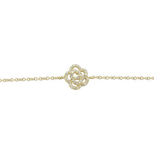 14K GOLD DIAMOND CAMILIA BRACELET