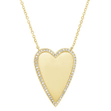 14K GOLD DIAMOND KAYLA HEART NECKLACE