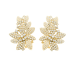 14K GOLD DIAMOND ORA EARRINGS