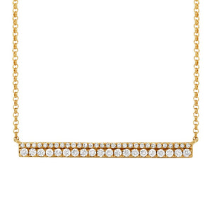 14K GOLD DIAMOND DOUBLE BAR NECKLACE