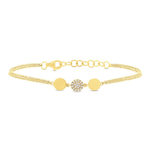 14K GOLD DIAMOND AMY BRACELET