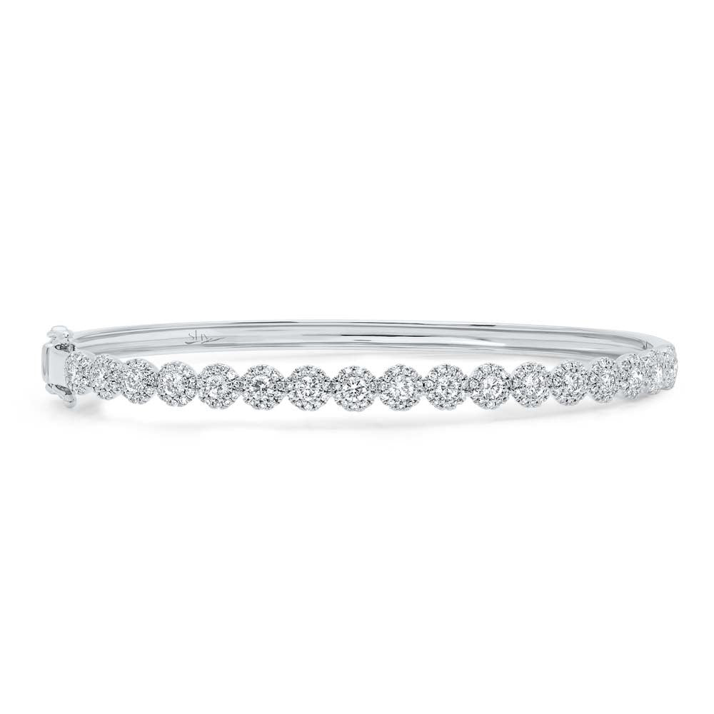 14K GOLD DIAMOND RIVA BANGLE