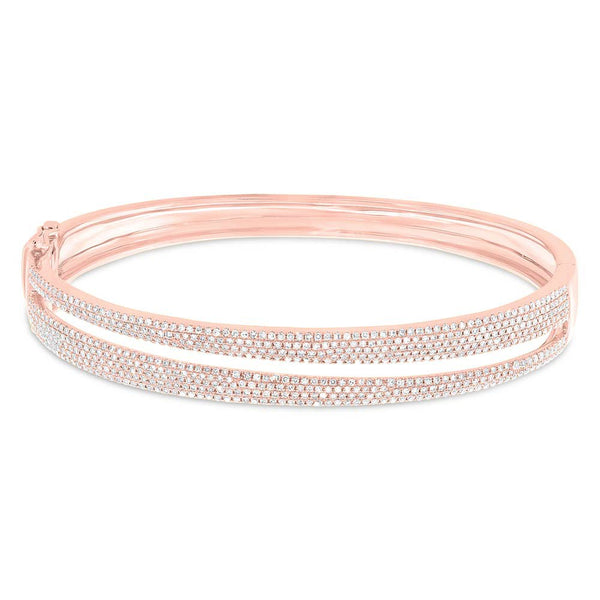 14K ROSE GOLD DIAMOND DIXIE BANGLE