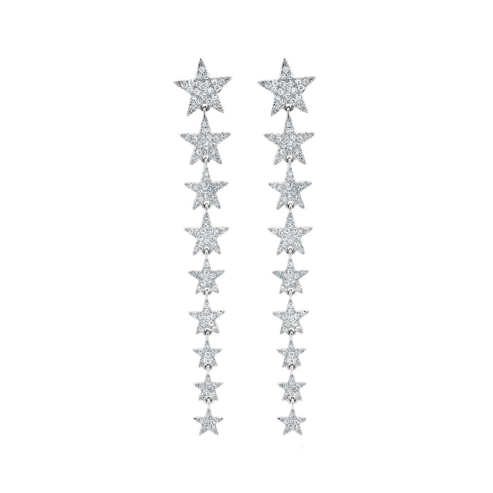 14K GOLD DIAMOND MARISSA STAR EARRINGS