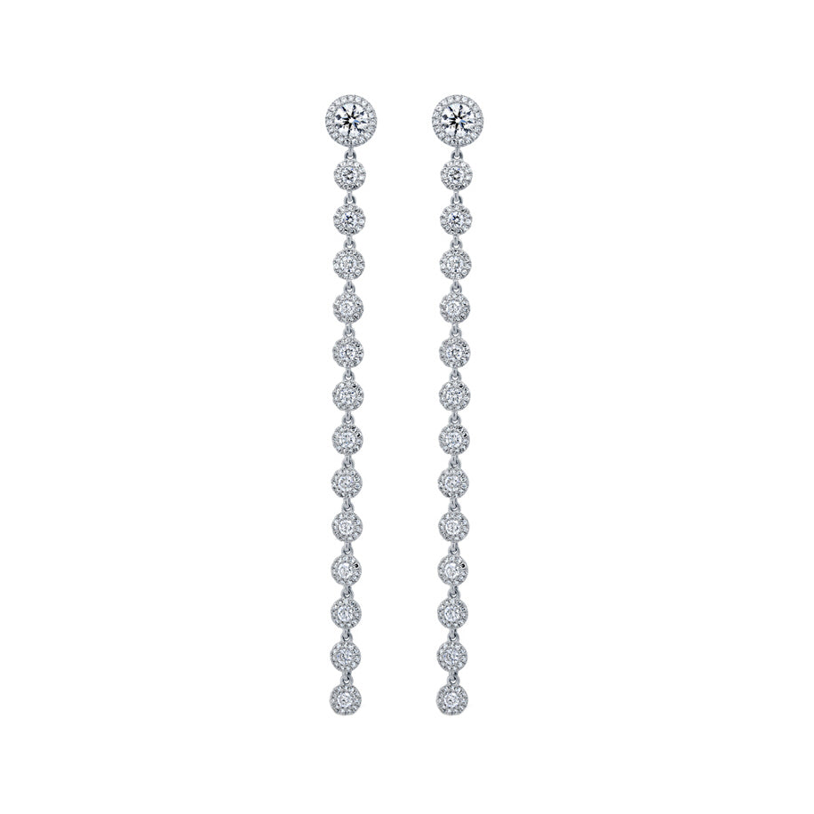 14K WHITE GOLD DIAMOND ESME EARRINGS