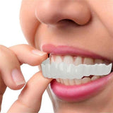 White removable veneer teeth for perfect smile
