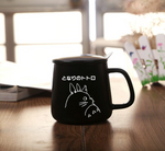 High Quality Hand Made Ceramics Mugs With Spoon and Cover Totoro Cartoon