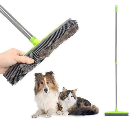 Rubber Broom Pet Hair Remover - mintstuffs.com