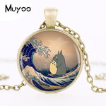 My Neighbor Totoro Logo Pendant Necklace Animated Cartoon Round Chain Necklace Vintage Pendant Necklace Women Jewelry MN5 HZ1