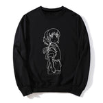 Spirited Away Chihiro Printed Long Sleeves O-Neck Sweatshirt