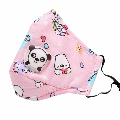 Kid Cute Face Cover with Panda Valve