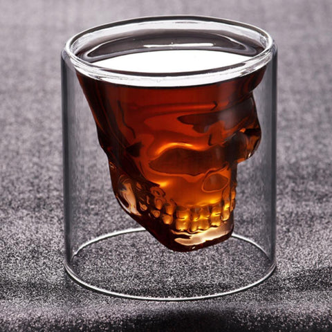 Whiskey Tequila Glass Fun Creative Party Wine Beer Drinking Cup Skull Sake Glass Mug Crystal Beer Mug Trait glass Skeleton situa