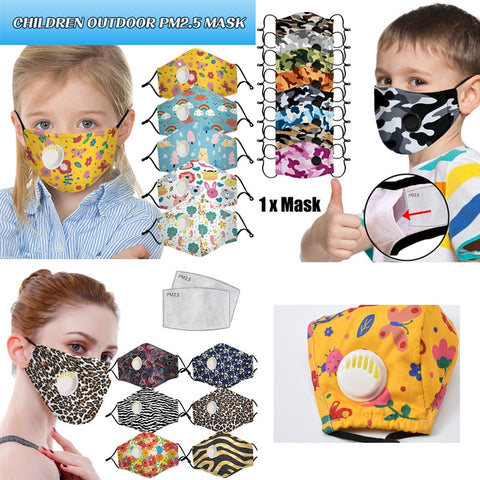 Kids and Adults Fashionable Face Masks with Valve