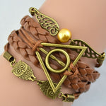 Harry Potter Deathly Hallows / Hunger Games Multilayer Braided Bracelets - mintstuffs.com