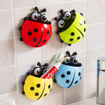 Cute Ladybug Toothbrush Wall Suction Mount Holder - mintstuffs.com