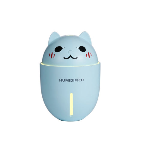Cute 3 in 1 USB Air Humidifier With LED Light and Mini Fan - mintstuffs.com